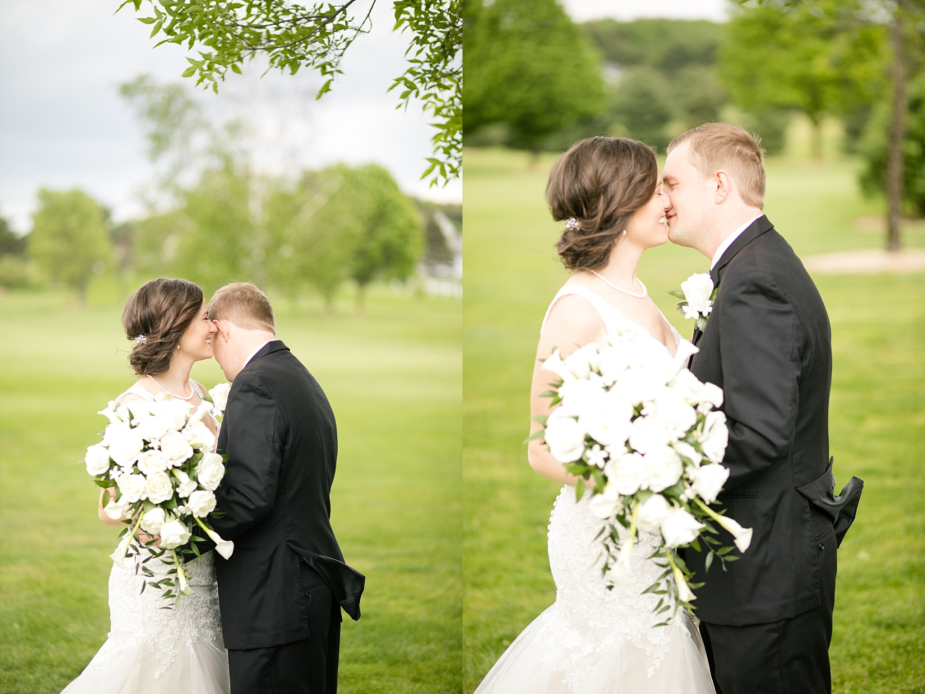 Emily ross 39 hickory hills golf course wedding in eau for Wedding dresses eau claire wi