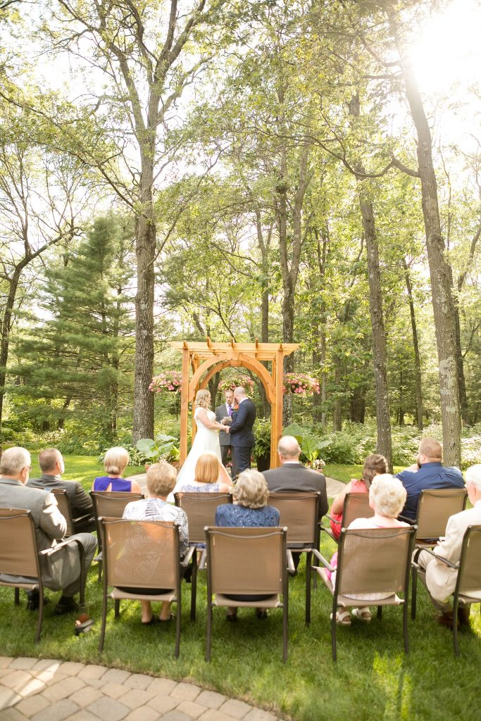 An intimate backyard wedding with little flecks of golden light shining through the trees, and so much laughter, joy and the good kind of tears made for a beautiful fete for Amber & Glenn.