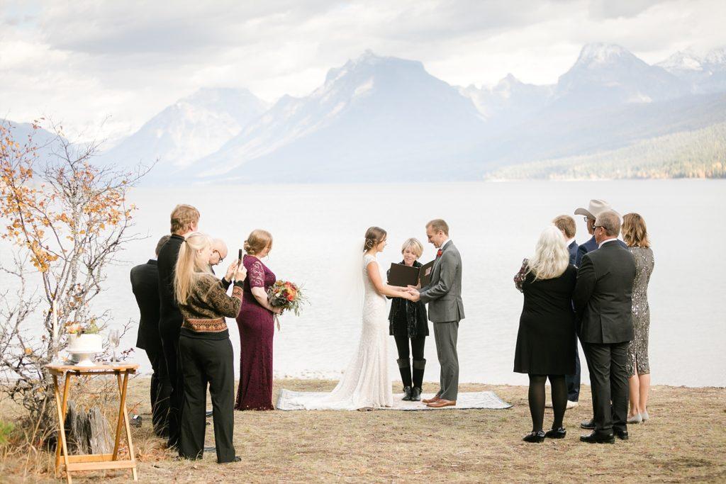 Ryan Beach Meadow ceremony Glacier National Park elopement