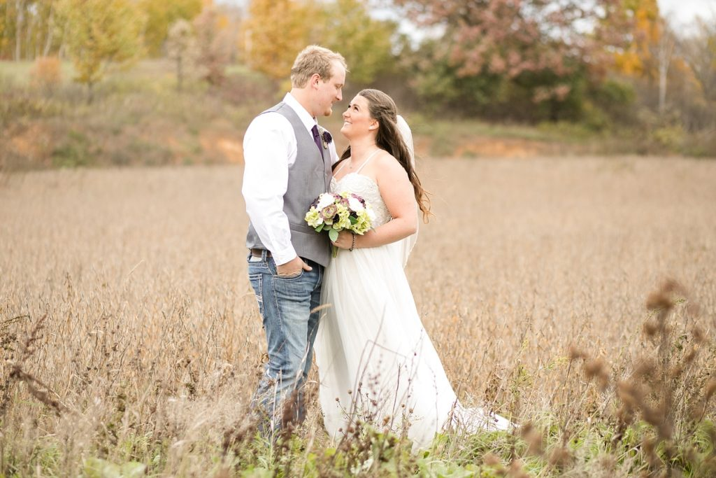 Paris and Shawn were married at The Church Barn wedding venue in Barron, WI