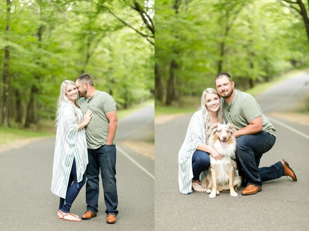 engagement session at Brunet Island State Park in Cornell, WI