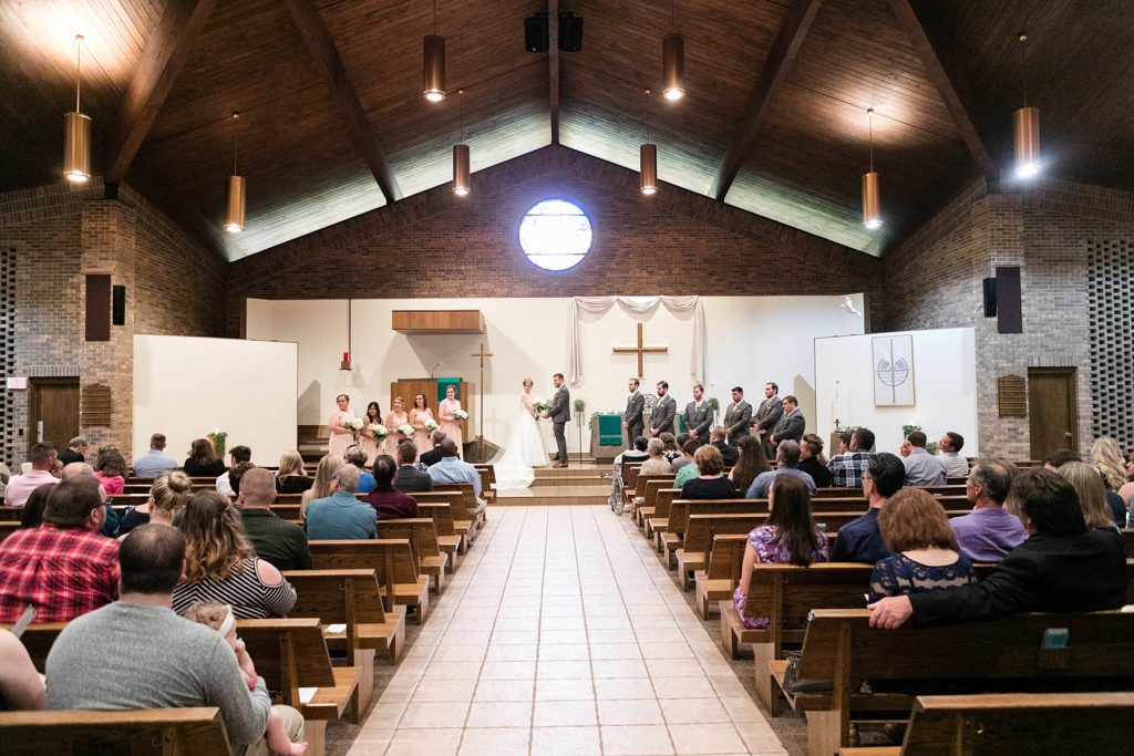 wedding ceremony at Hope Lutheran Church in Eau Claire