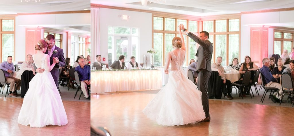 couples first dance at wedding atThe Florian Gardens in Eau Claire