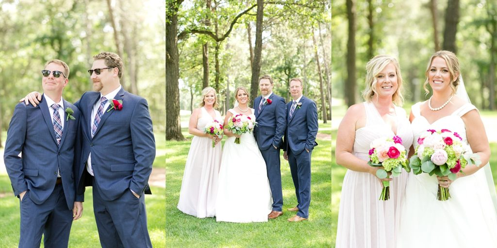 bridal party photos at the Eau Claire Golf & Country Club