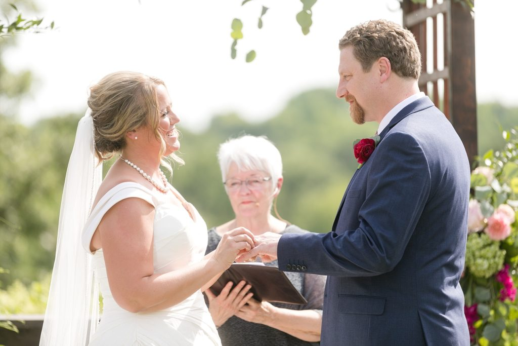 outdoor ceremony at the Eau Claire Golf & Country Club