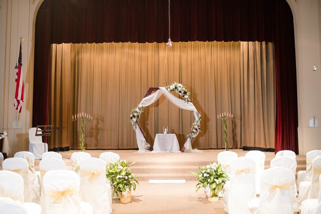 Ceremony space at Masonic Ballroom in Eau Claire