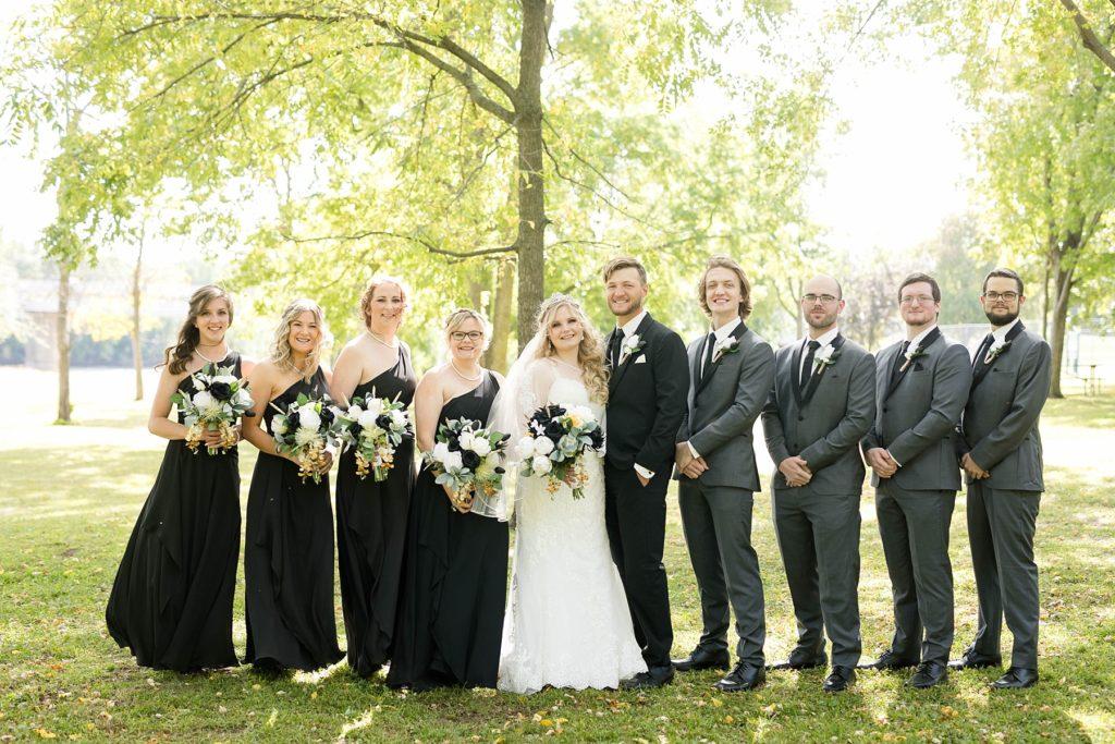 bridal party photos at Owen Park in Eau Claire WI