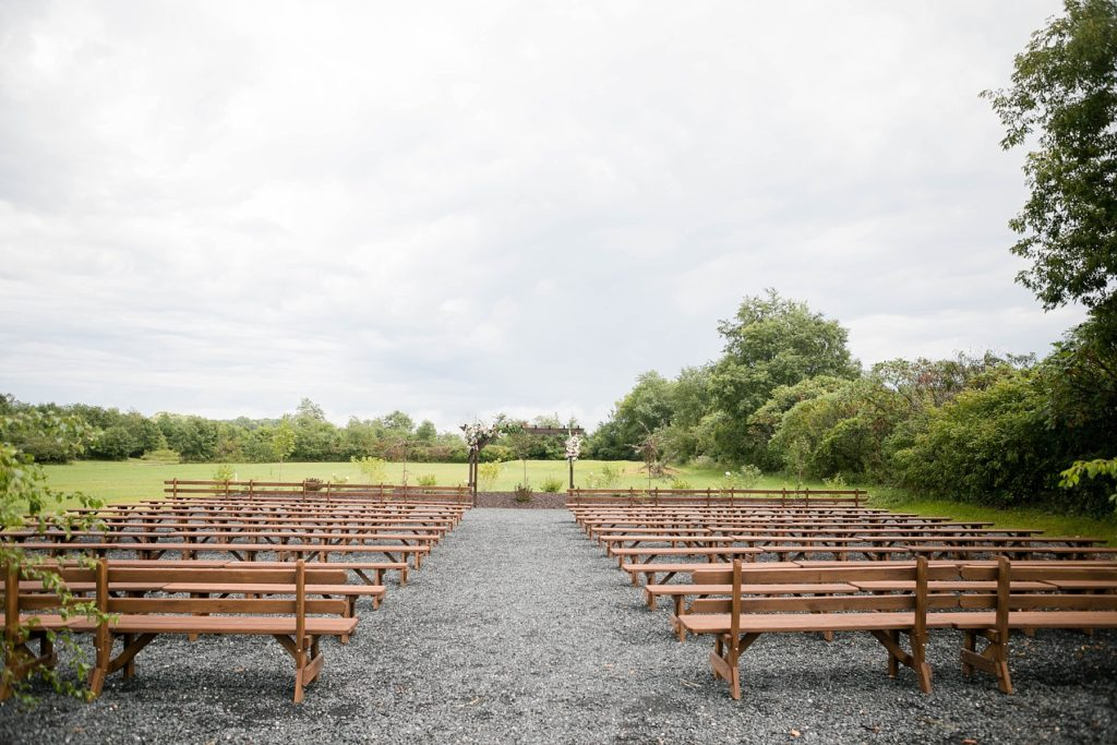 outdoor ceremony space in August at Lilydale in Chippewa Falls, WI