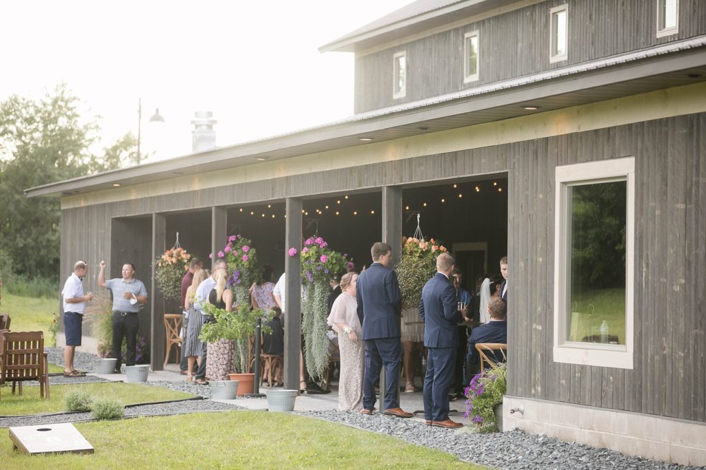 guests outside at Lilydale in Chippewa Falls, WI