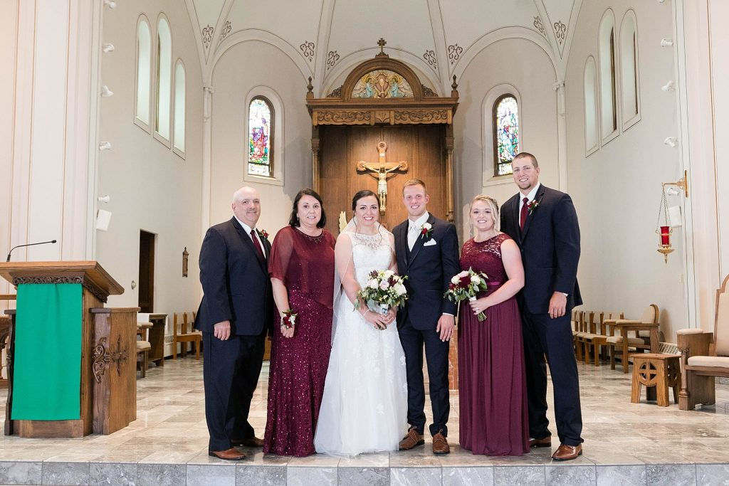 family photos at St. Charles Borromeo Catholic Church in Chippewa Falls